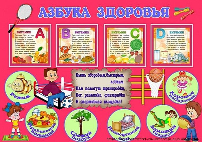 Детские картинки для детского сада о здоровье