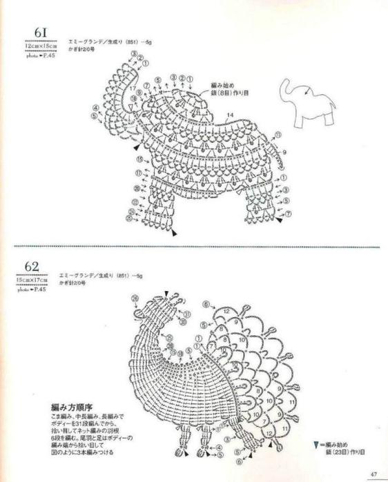 Вязаные плоские игрушки крючком со схемами
