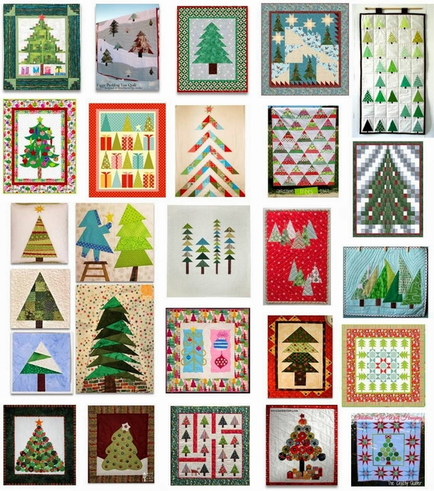 free patterns, Christmas trees, July 2014, quiltinspiration.blogspot.com (619x700, 408Kb)