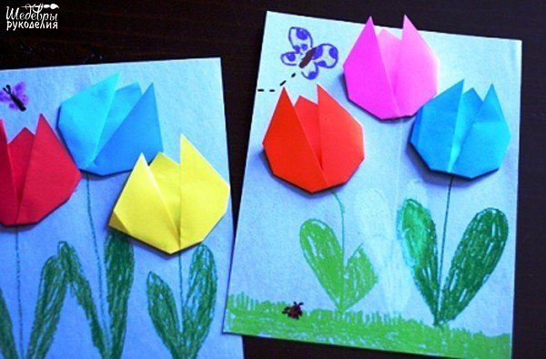 Сентября поздравление, открытка оригами для мамы на 8 марта