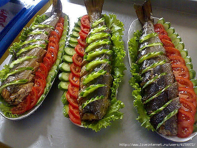 Украшение салатов - оригинальные идеи с фото