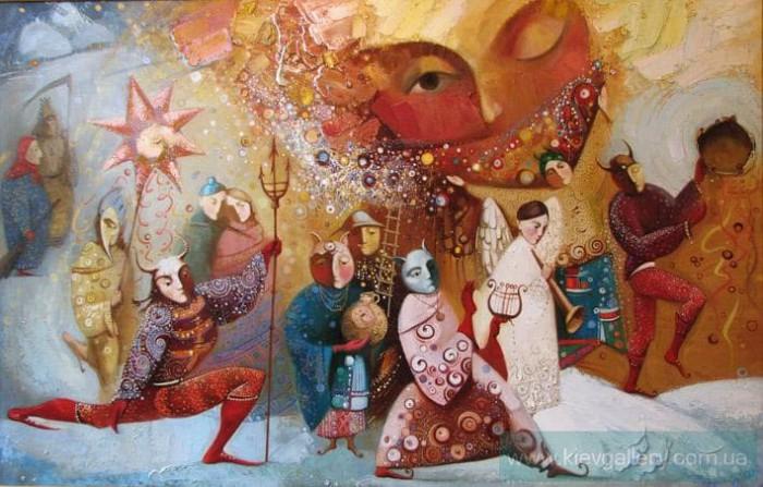рождественские мотивы в картинах художников этот