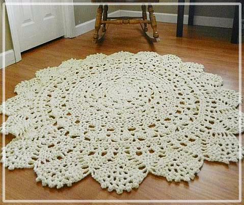 вяжем коврики круглые крючком схемы из пряжи