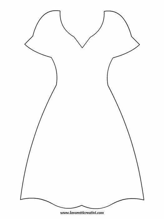 Шаблоны для открытки с платьем на 8 марта
