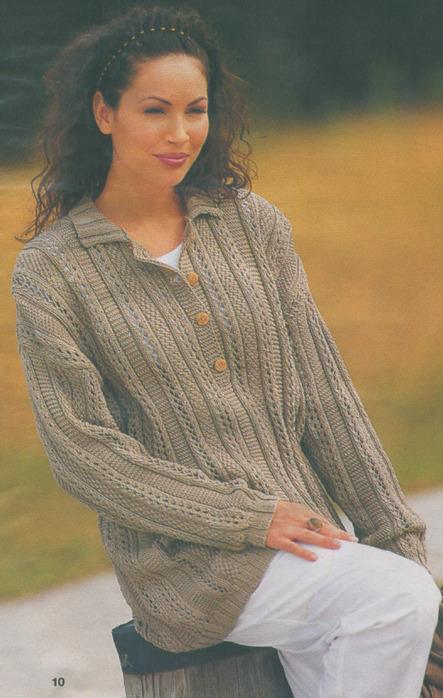 Вязаные свитера спицами : схемы, описания вязания 91