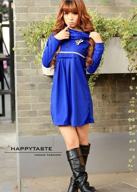 cea91e599 Красивое платье с брошкой и дополнительным воротничком