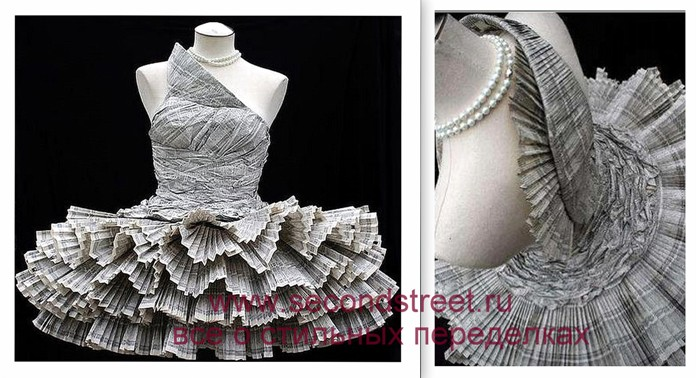 Как сделать своими руками платье из газет