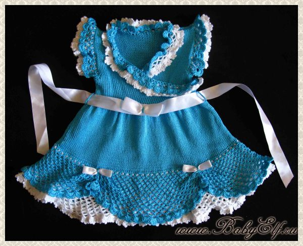 Вязанные нарядные платья для девочки крючком