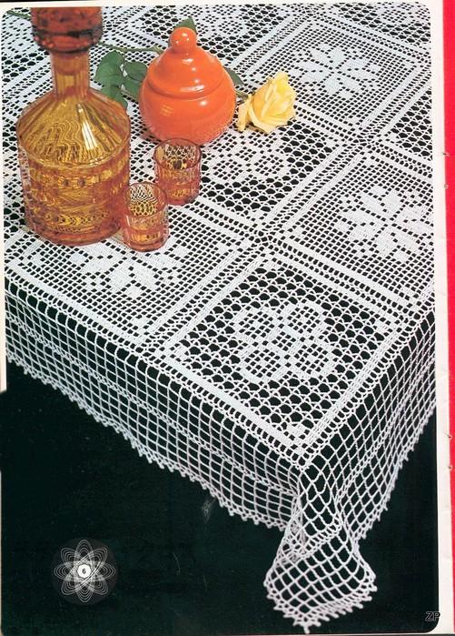 филейное вязание крючком схемы квадратные салфетки бесплатно