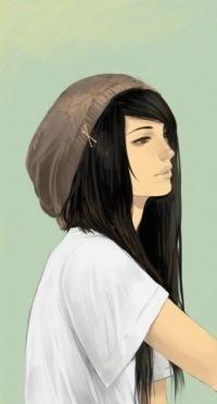 Рисованные фото девушек.