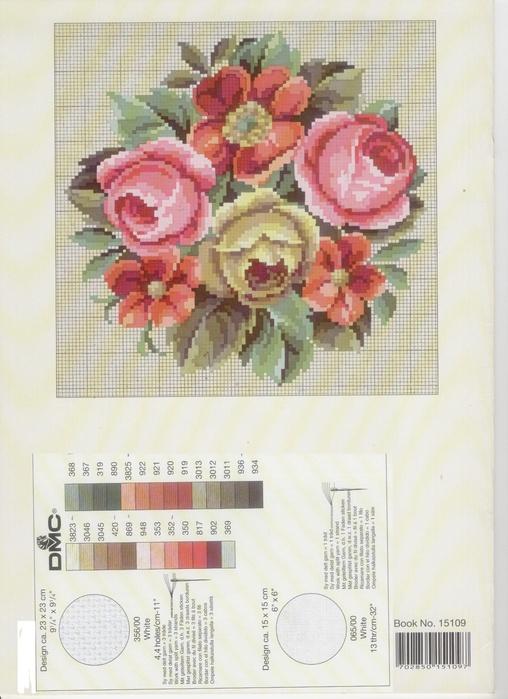 Винтажные розы вышивка крестом схемы