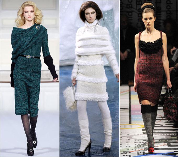 с чем носить вязаное платье - Футболки.