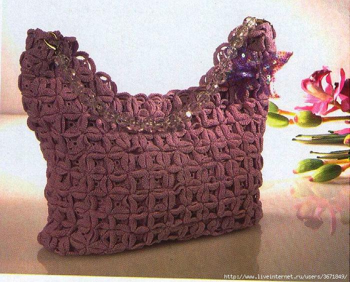 Такая сумка будет только у вас (вязание спицами)(