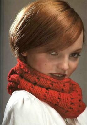 Фотография из рубрики Схема шарфа вязание спицами и Техника вязания...