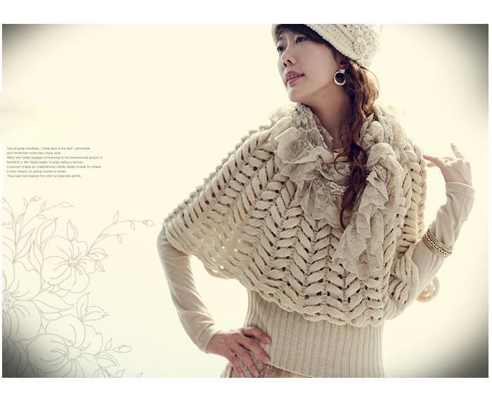 Трендовый пуловер-пончо.  Мастеркласс.  Основное полотно:прямоугольник...