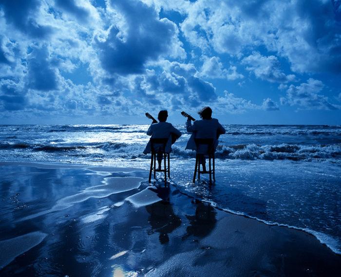 """Поющие гитары  """"Синяя песня  """".  Синий синий иней."""