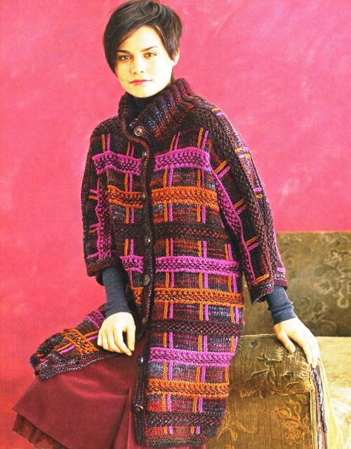 Пальто вязаное крючком ля полных женщин.