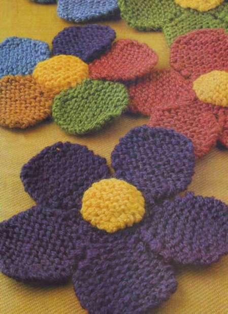 Описание: вязание цветов спицами схемы - Узоры.