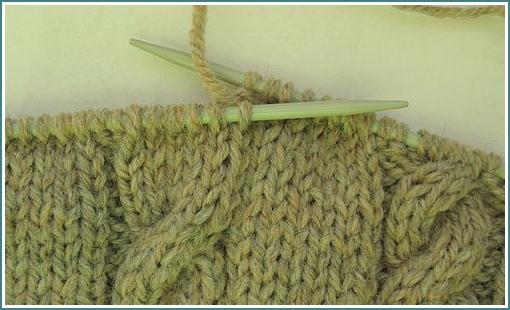 """Узор вязания спицами косы  """"косичка """"., вязание косичкой, вязание спицами..."""
