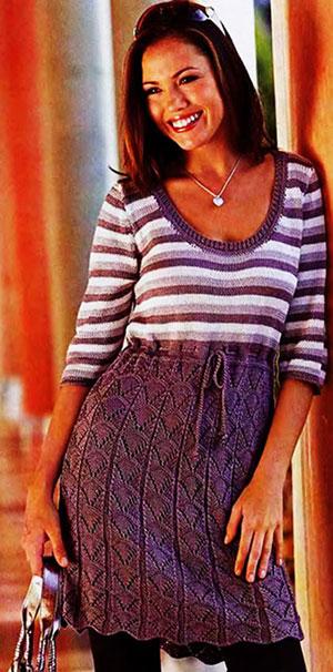 вязаное платье спицами схема. вязаное платье спицами схема с описанием.