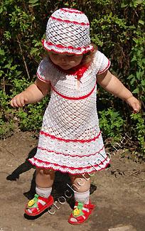 Вязаная детская шляпка.