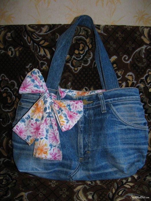 Платье из джинсов... сумки из джинсов своими руками. джинсы.