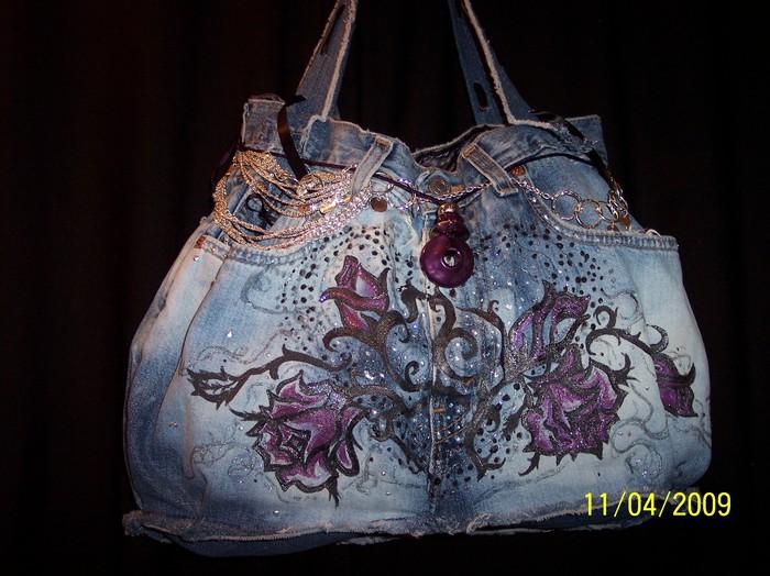 Джинсовая сумка своими руками - оригинальная и полезная поделка.