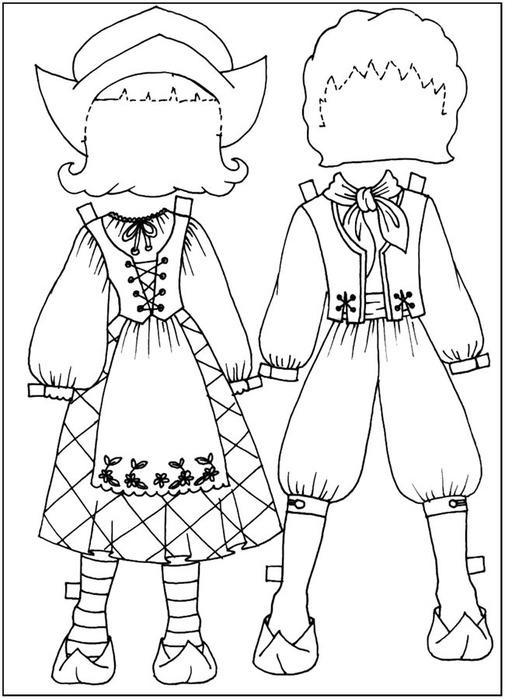 Кукла-вырезалка-раскраска для девочек. Обсуждение на ...