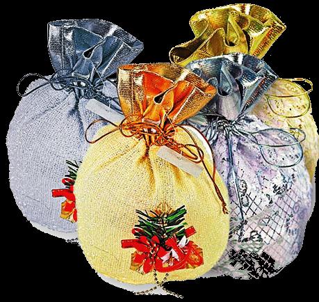 Месяцев, мешок с подарками открытка