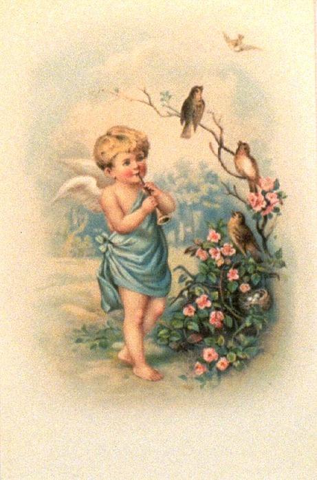Ангел ретро открытка