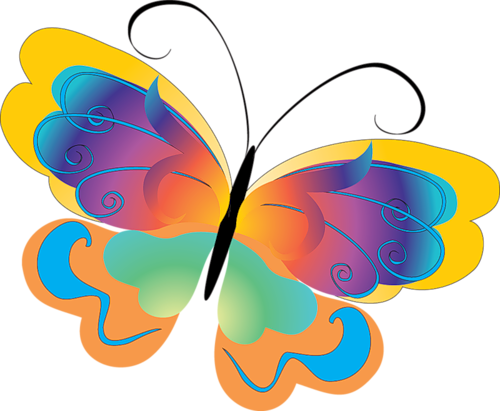 Картинки с бабочками для шкафчиков