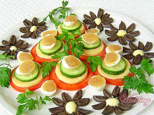 салаты и закуски к праздничному столу с фото.