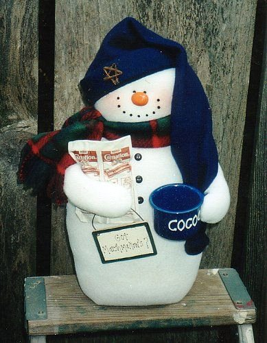 Итак, пошив: 1. Распечатайте выкройку Снеговика, вырежьте все...
