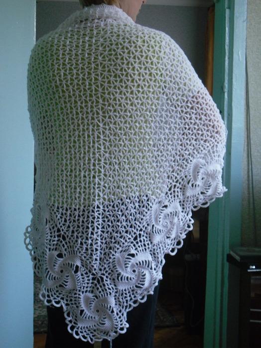 Простые схемы вязания шалей крючком-для начинающих.