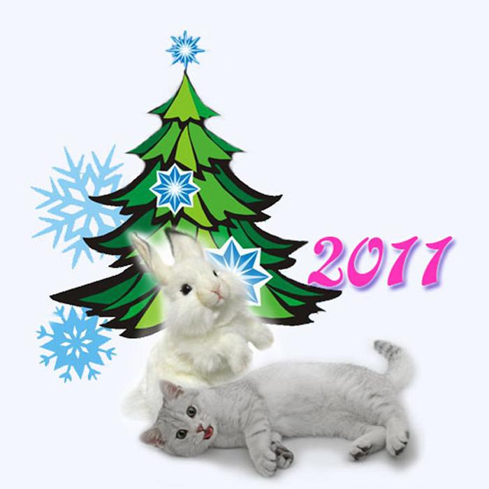 Открытки как, новый год 2011 картинки