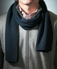 Модный шарф. трикотажный шарф машинной вязки без бахромы.