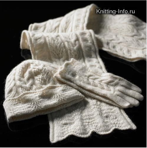 Описание: как связать шарф из ленточной пряжи.