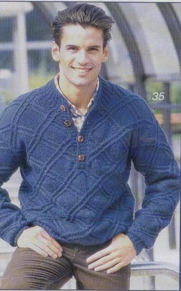вязание спицами мужские свитера грубой вязки схемы.