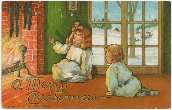 Vintage Christmas cards Винтажные рождественские открытки.