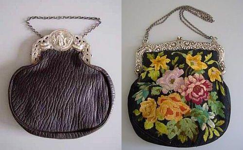 Вот такая же винтажная сумочка, вышитая мелким крестиком с серебряной...