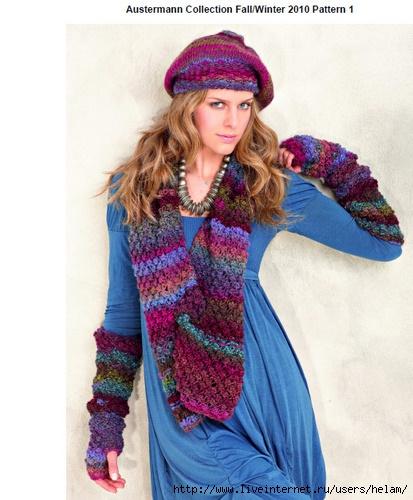 схемы вязания беретов проще
