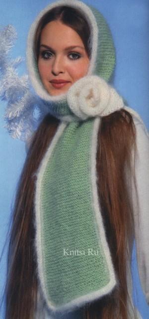 Описание: шарф труба схема вязания спицами.