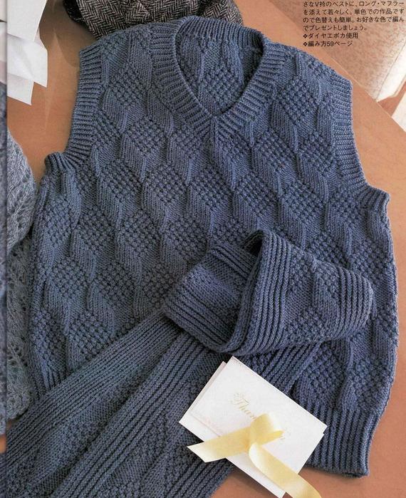 мужской вязаный шарф, Вязание сумок.