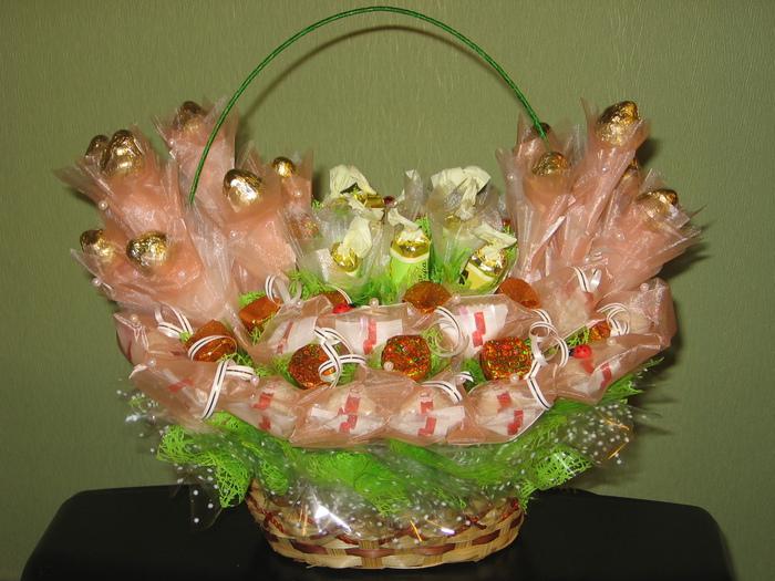 История создания букетов из конфет, орхидея одинцово купить