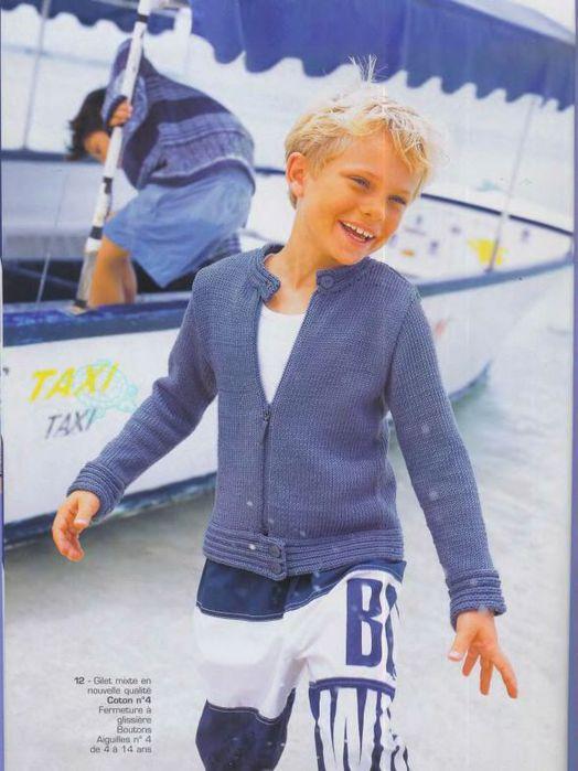 Описание: как вязать жилетку для мальчика года.