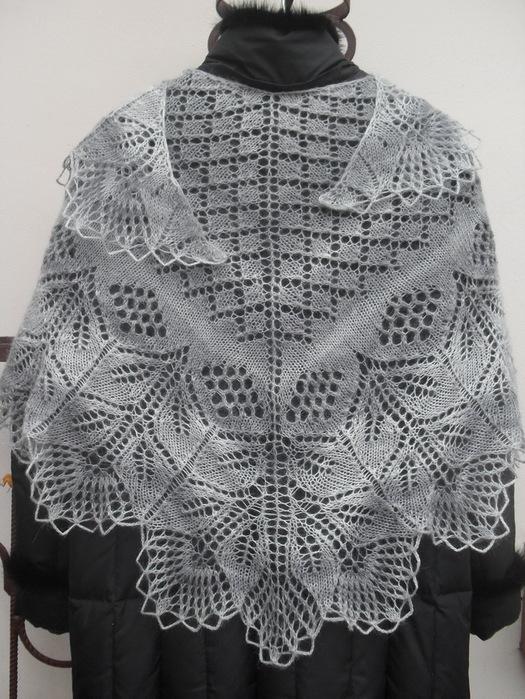 вязание спицами ажурных платков и косынок