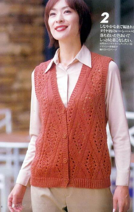 Комментарий: вязаные модели из японских журналов.