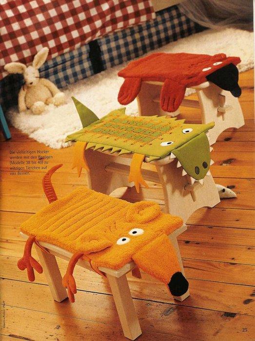 Задумалась о пошиве чехлов для стульев.  Нашла кое-что на.
