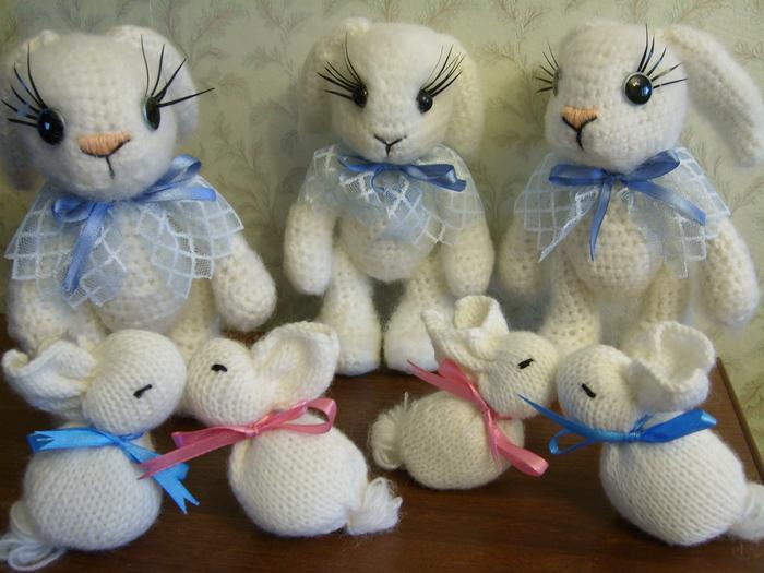 вязание игрушек крючком схемы заяц