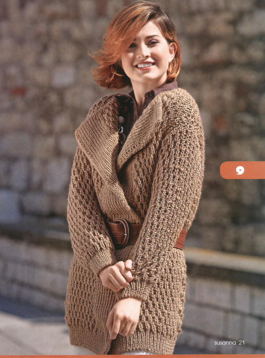Вязание спицами женских свитеров и кардиганов схемы и описание.